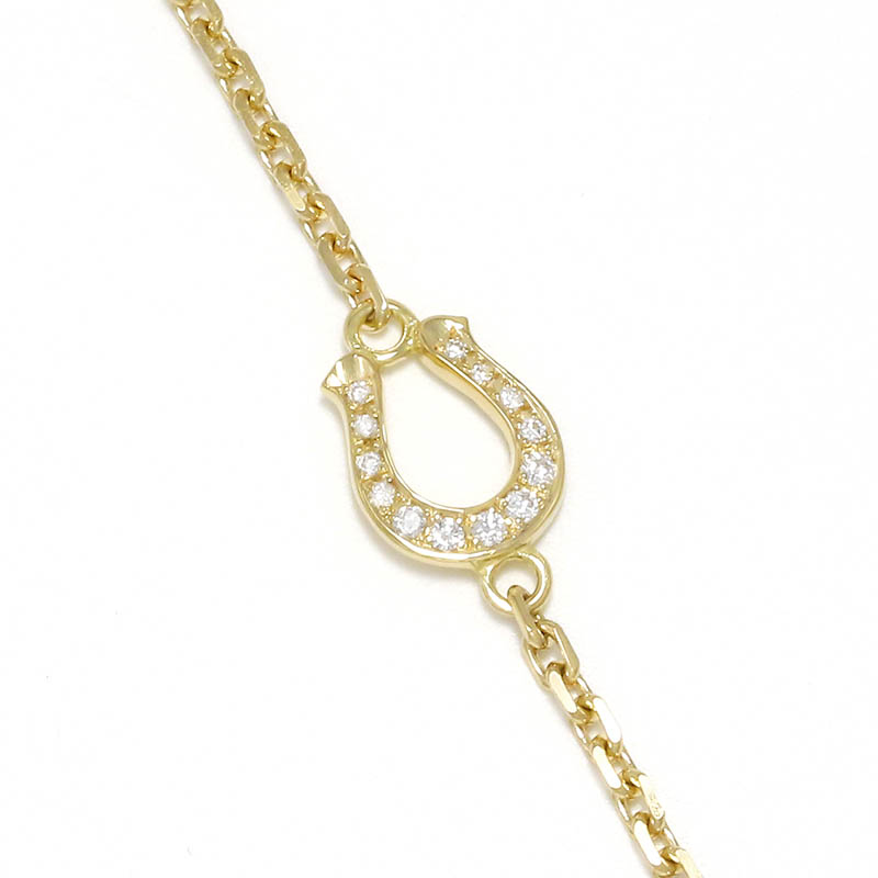 Horseshoe Amulet Chain Anklet - K18Yellow Gold w/Diamond