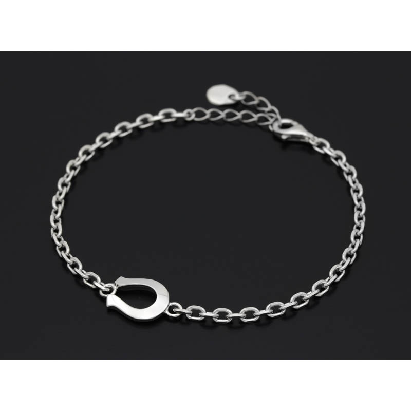 Horseshoe Amulet Chain Bracelet - Silver
