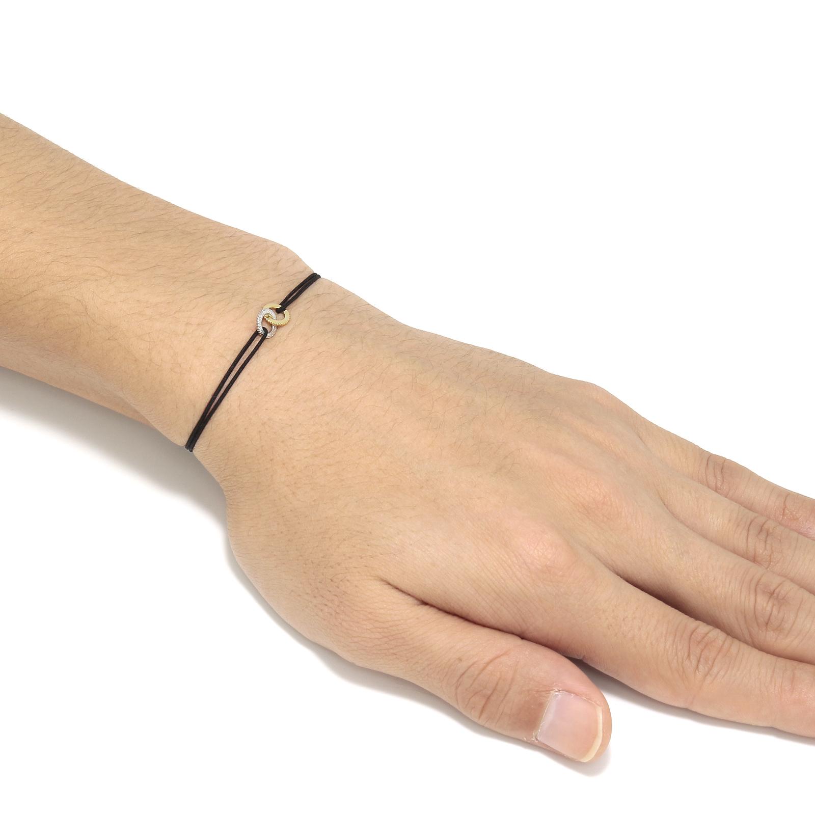 Double Ring Cord Bracelet