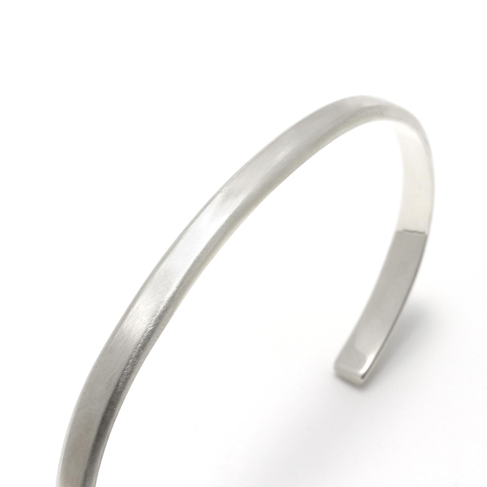 Horseshoe Charm Bangle - Silver×K18Yellow Gold