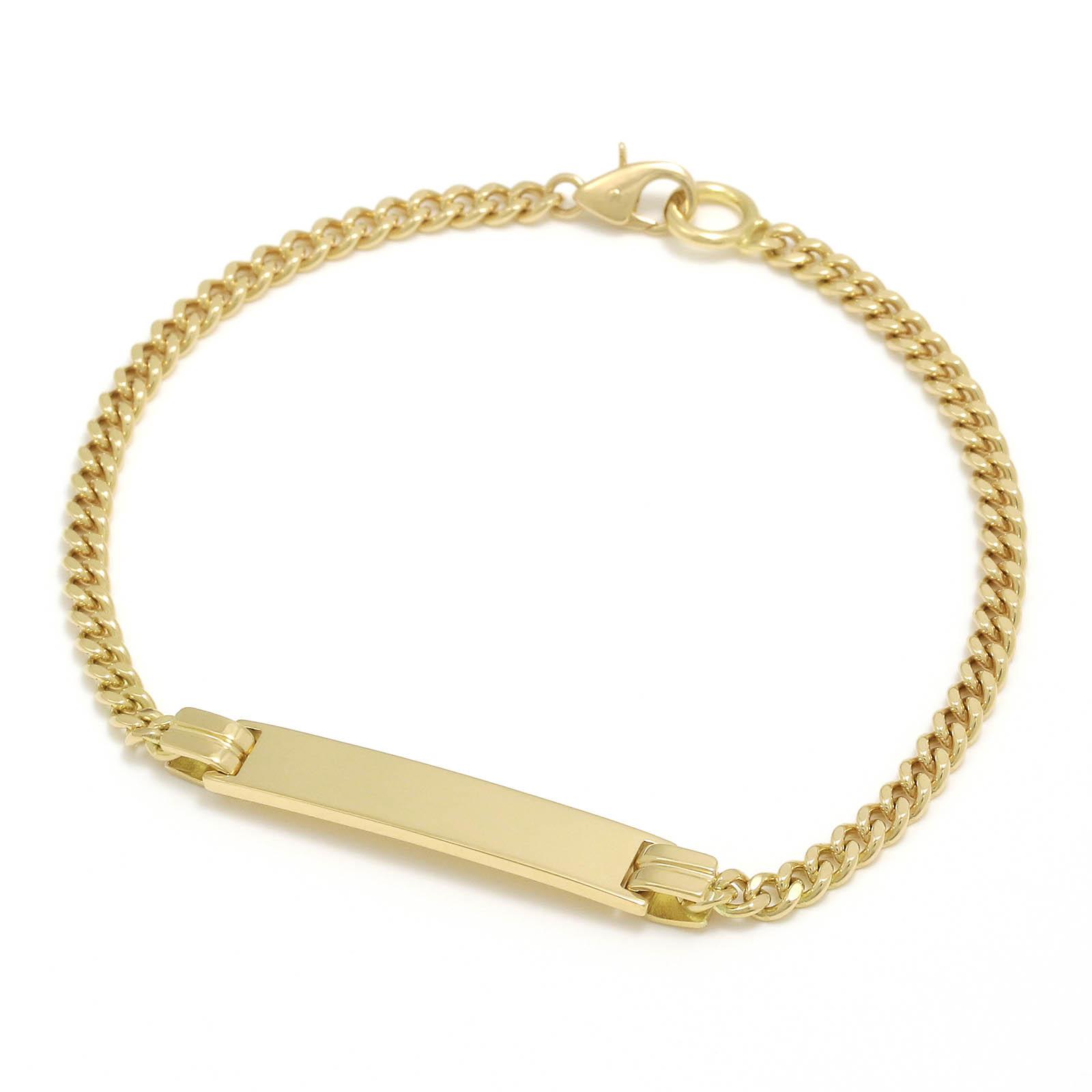 Narrow ID Chain Bracelet - K18Yellow Gold