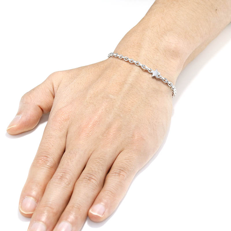 One Star Chain Bracelet - Silver