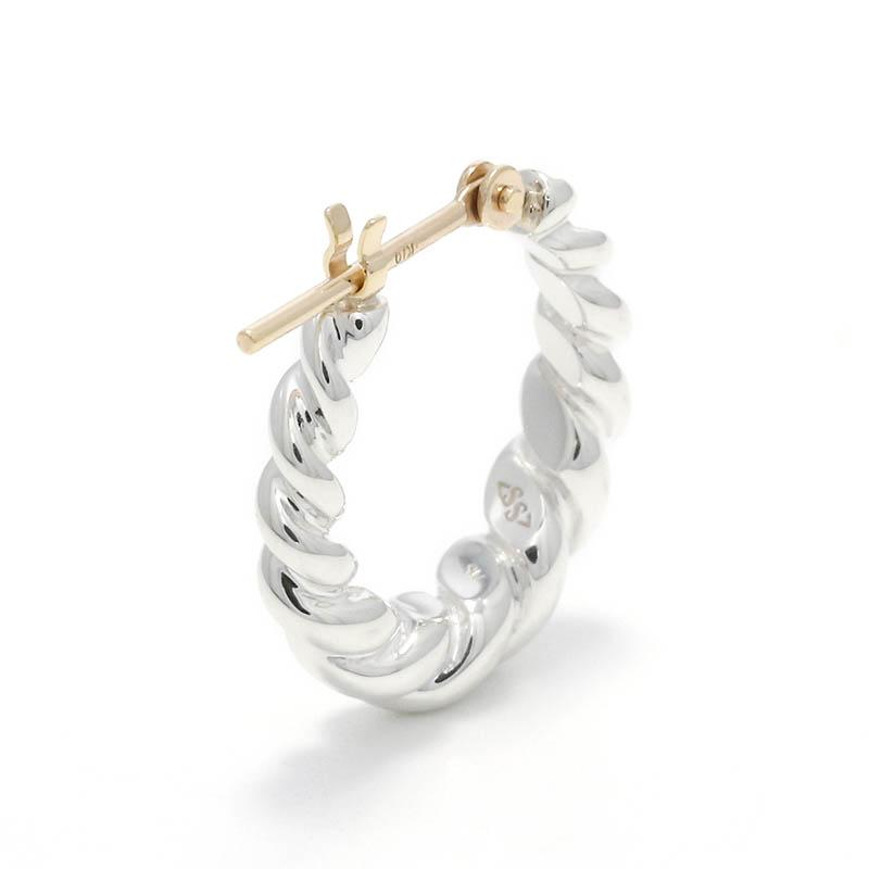 Gradation Twist Hoop Pierce - Silver