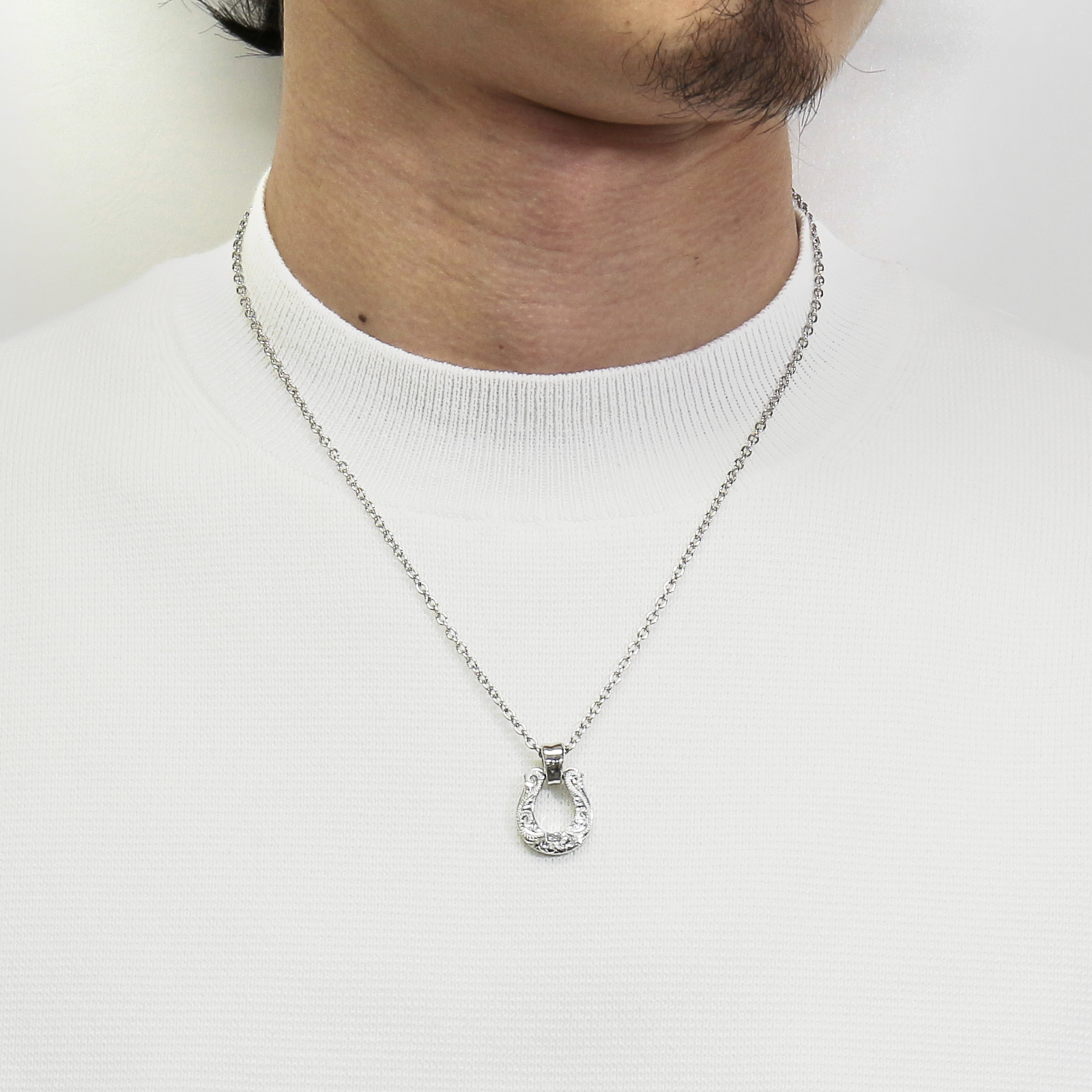 Collaboration XL Horseshoe Necklace S.O.S fp - Silver
