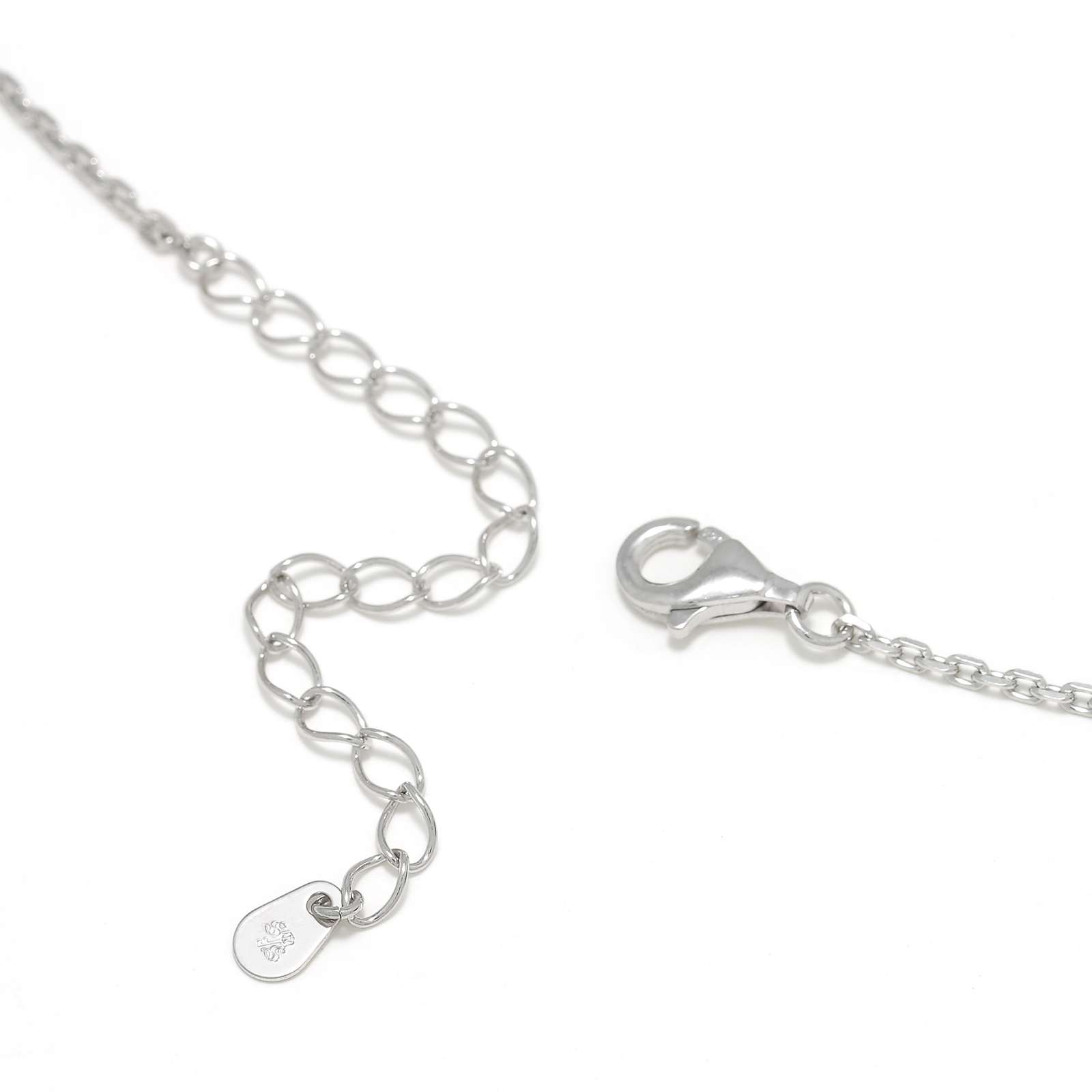 Small Charm Necklace - Horseshoe - Silver w/CZ
