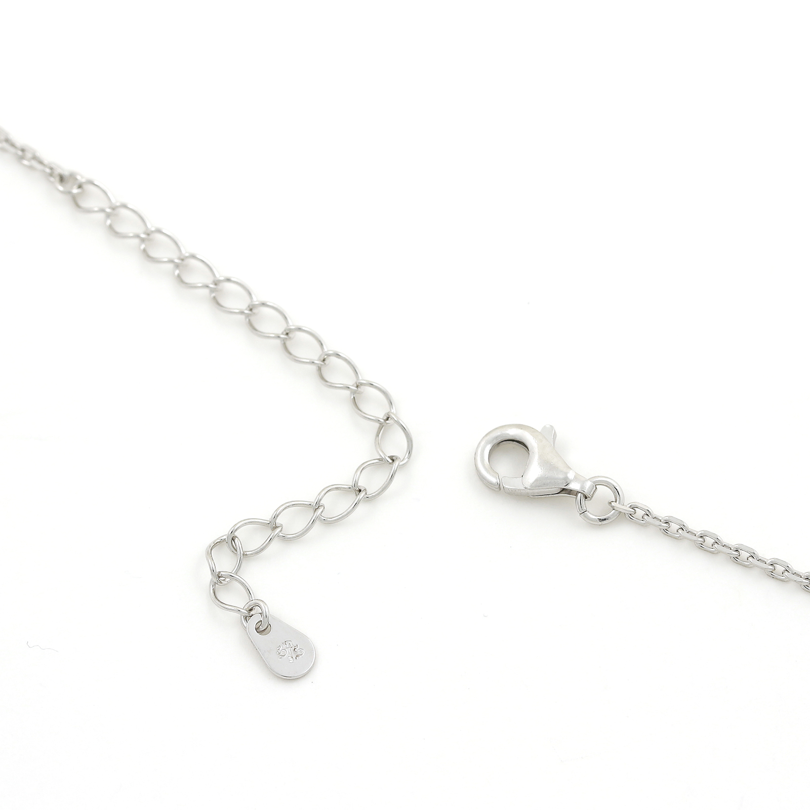 Double Cross Necklace - Silver