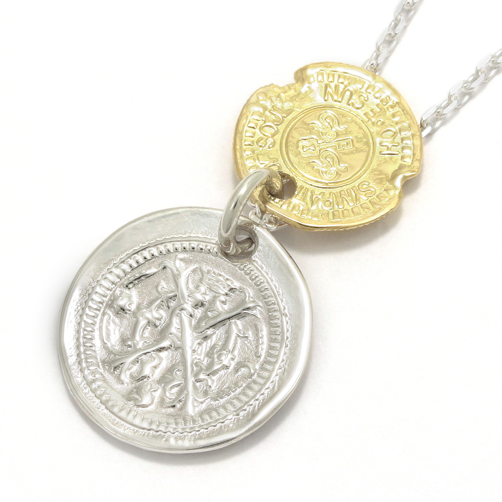 B.C Coin Necklace / Hope Sun - Silver×K18Yellow Gold