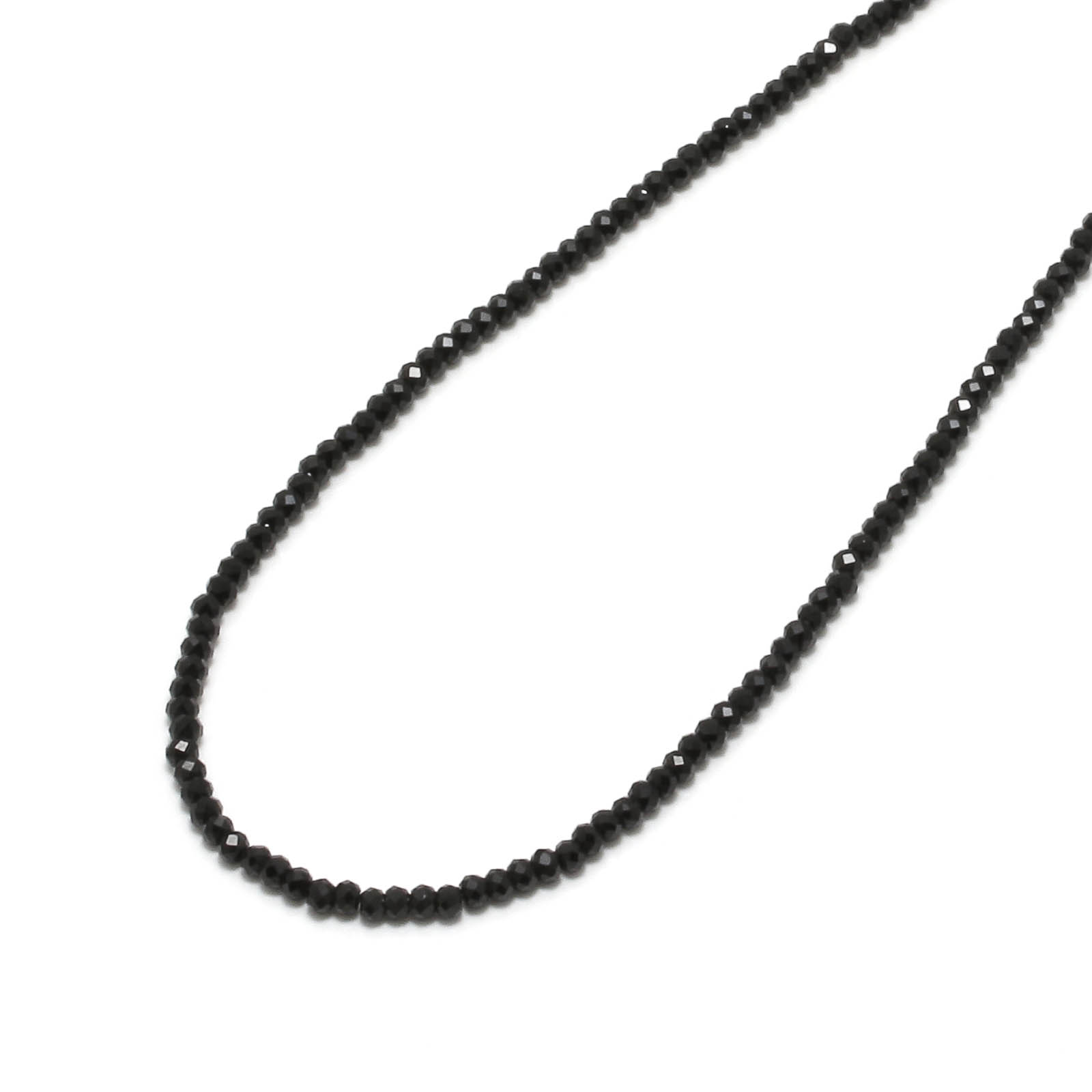 Black Spinel Necklace - Silver