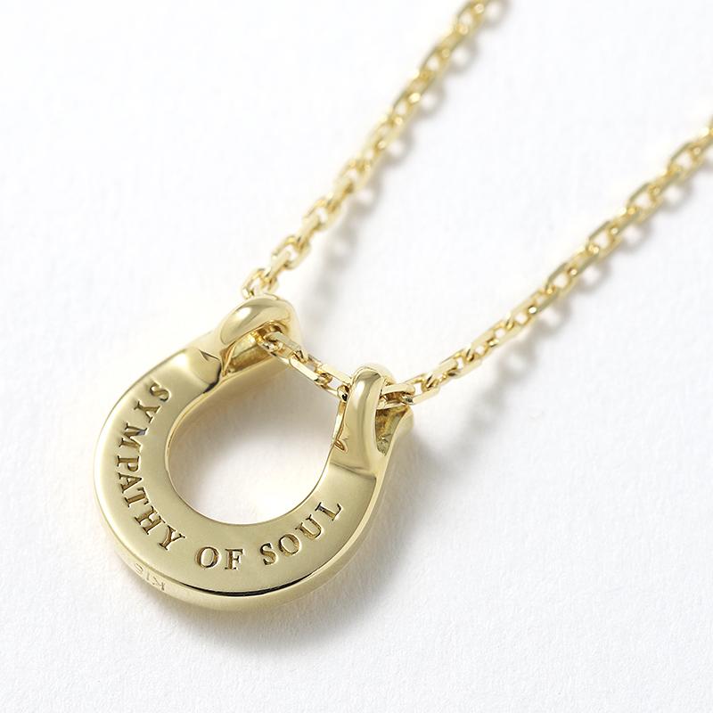 Ridge Horseshoe Necklace - K18Yellow Gold