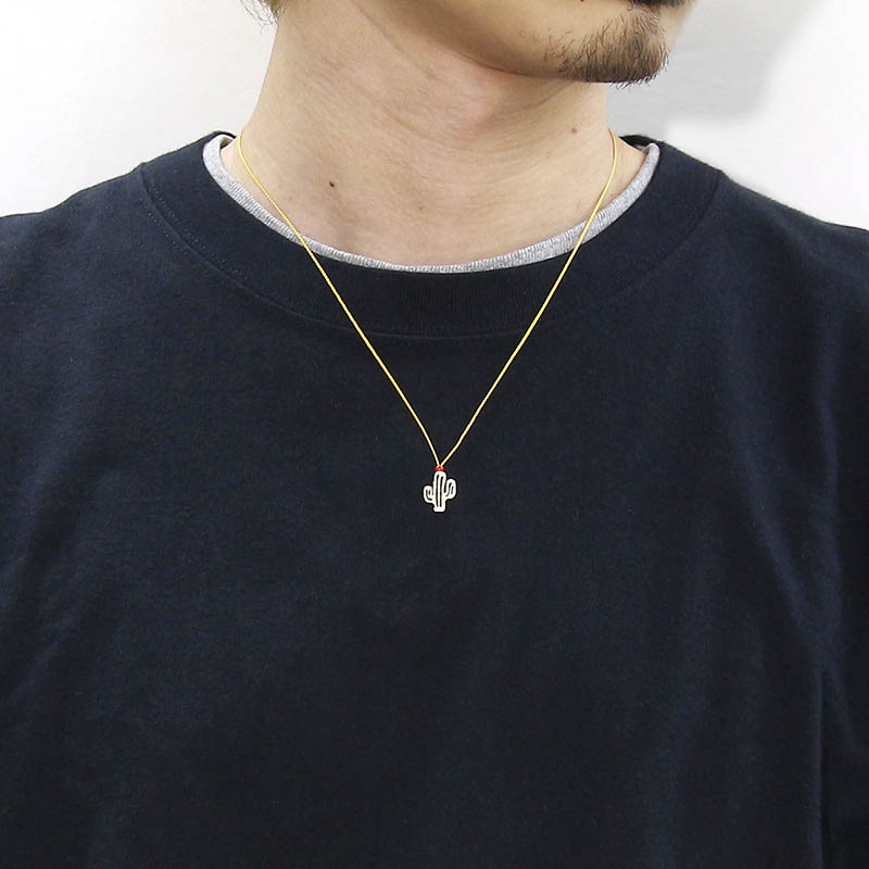 Safari Lounge別注 One Mile Jewelry Cord Necklace - Cactus - K10Yellow Gold