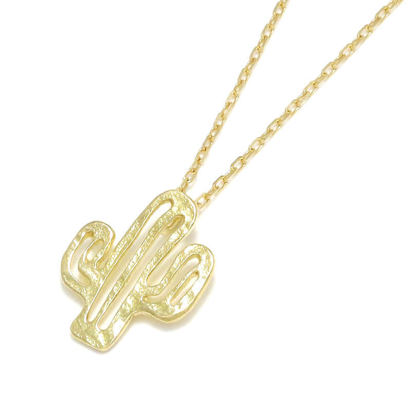 Safari Lounge別注 Small Charm Necklace - Cactus - K18Yellow Gold