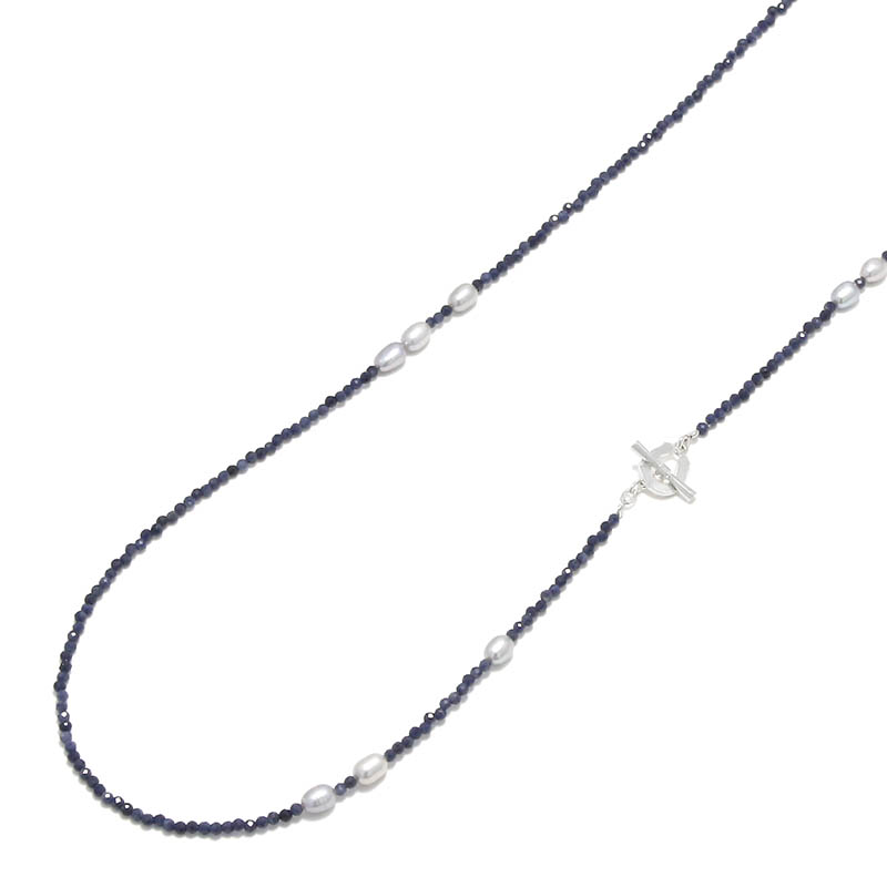 Sapphire&Pearl Beads Necklace