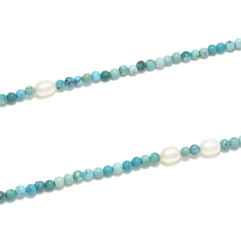 Turquoise&Pearl Beads Necklace