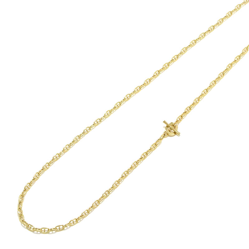 Classic Chain Necklace - Anchor - K18Yellow Gold
