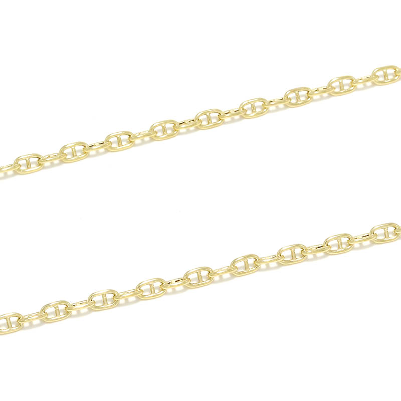 Classic Chain Necklace - Anchor - K18Yellow Gold><br><br> <img src=