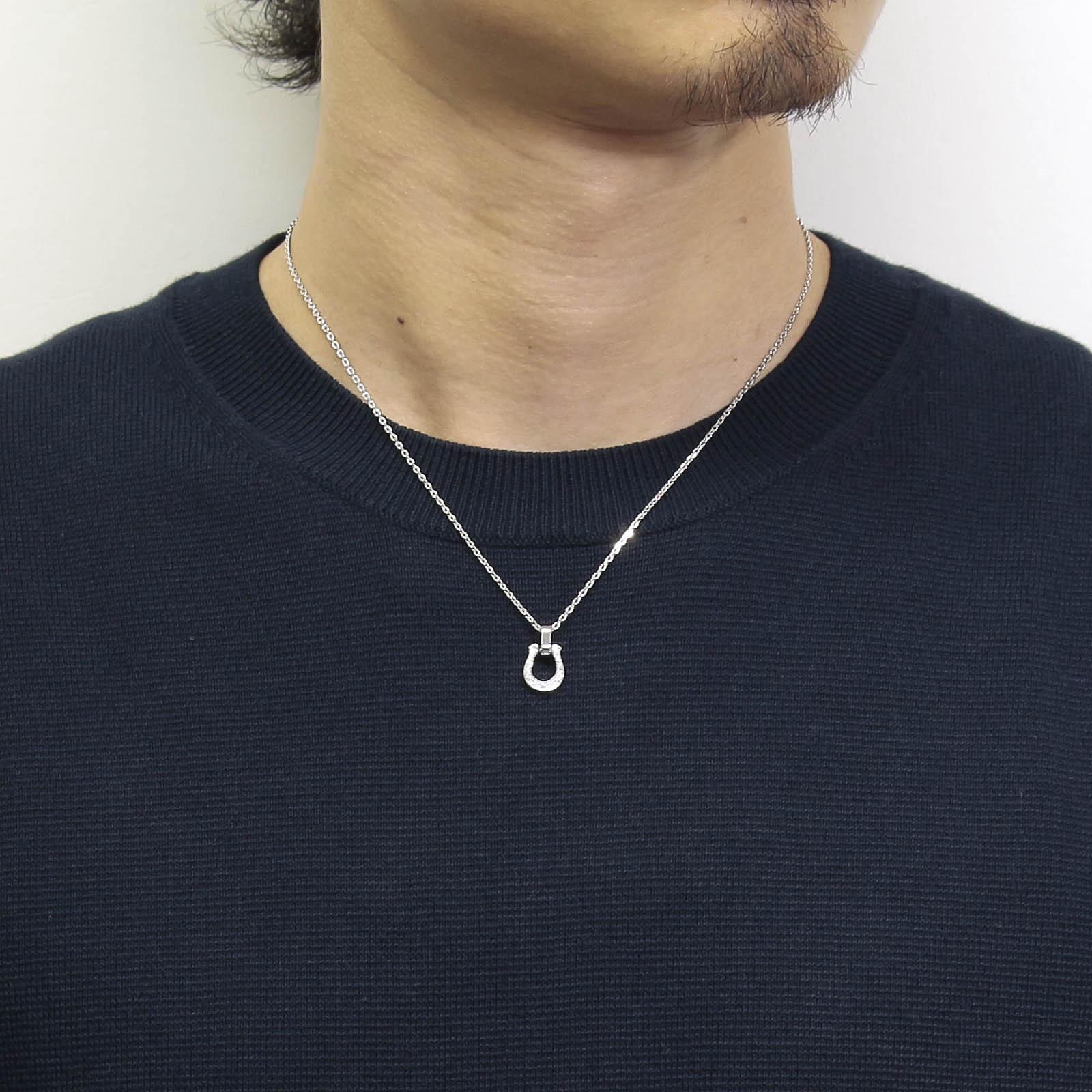 Horseshoe Amulet - Silver w/CZ