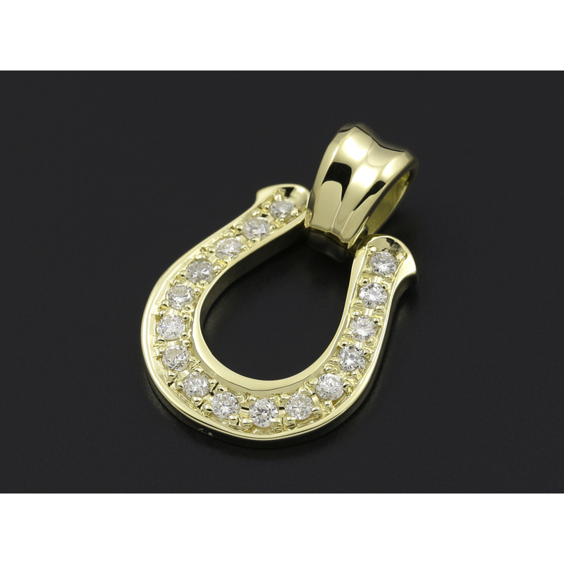 Sympathy of soul horseshoe large pendant horseshoe large pendant k18yellow gold wdiamond mozeypictures Gallery