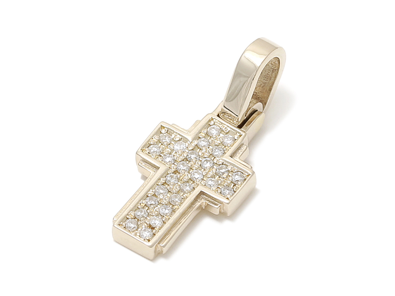 Sympathy of soul dazzle cross pendant s dazzle cross pendant s k10yellow gold wdiamond mozeypictures Choice Image