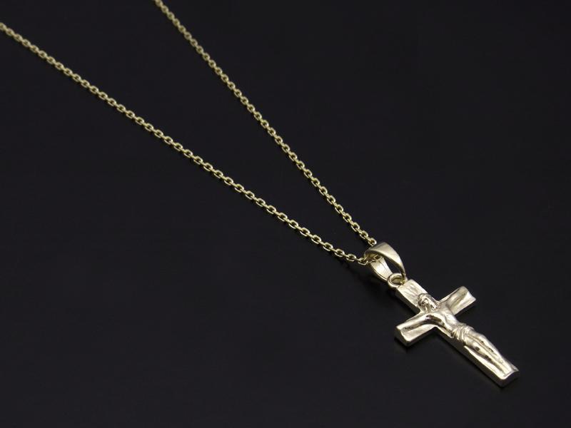Large Divine Cross Pendant - K10Yellow Gold
