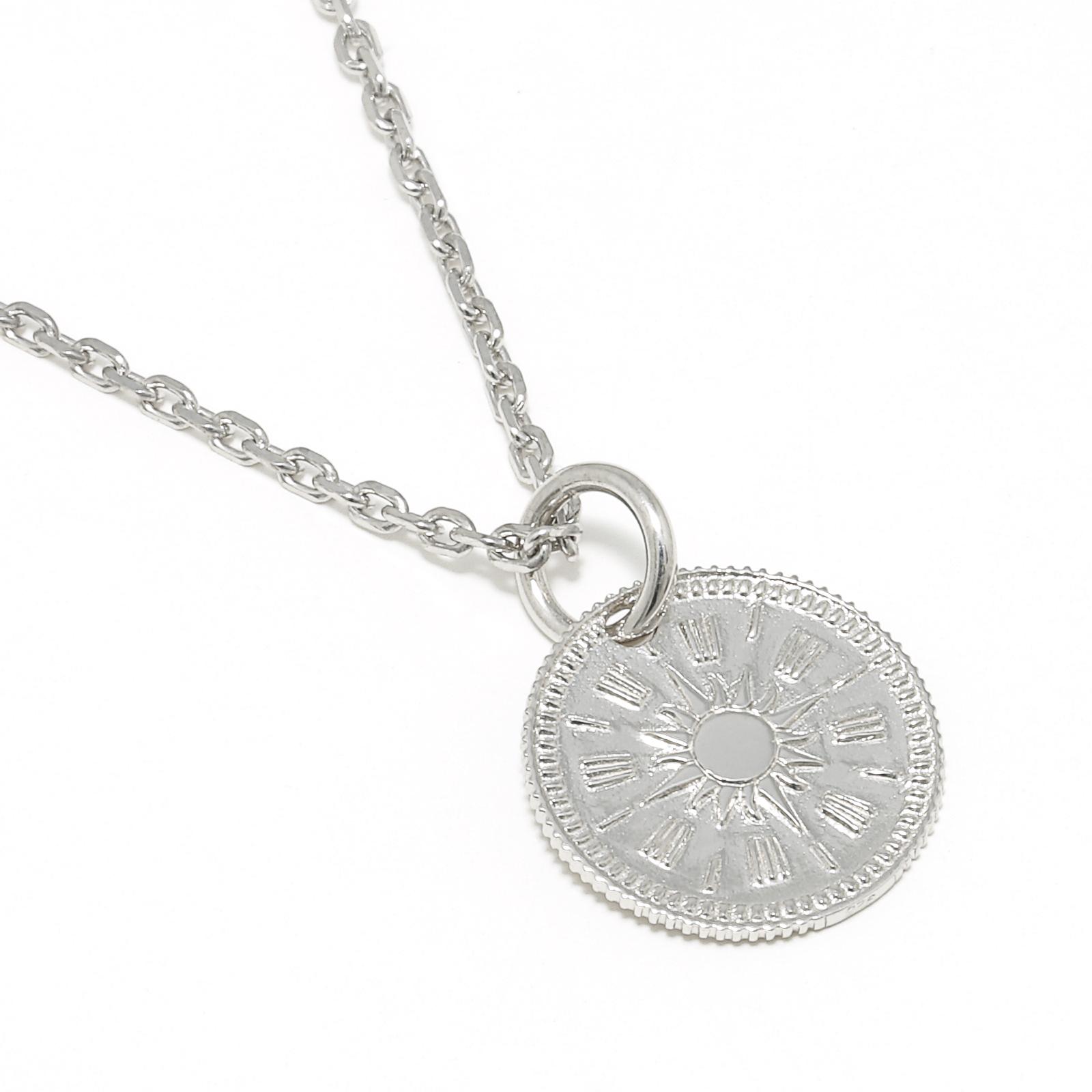 Hope Sun Coin Charm - Silver