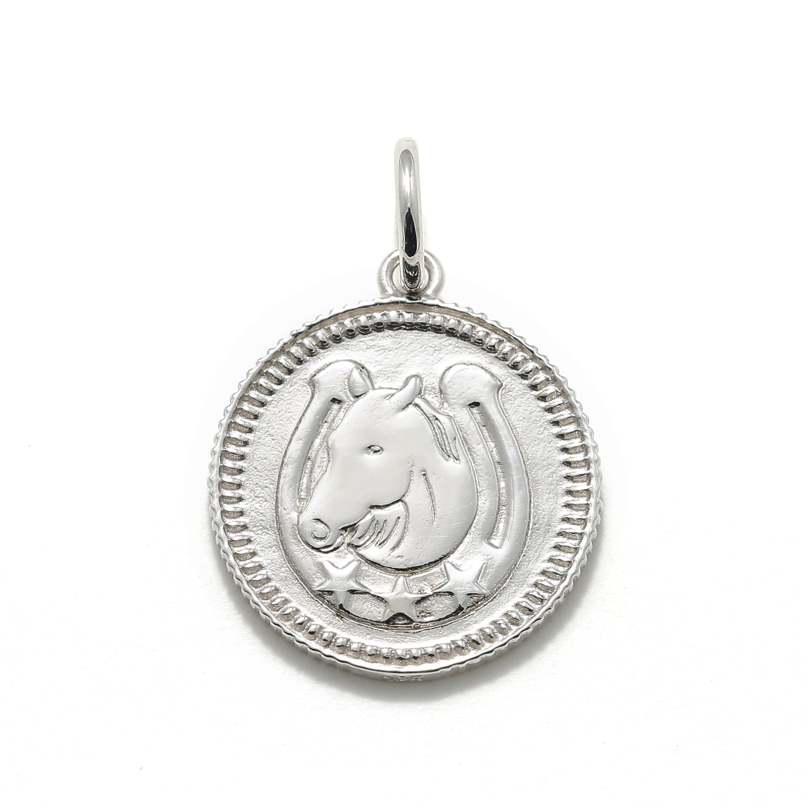 Medium Ever Fortune Coin Charm - Silver