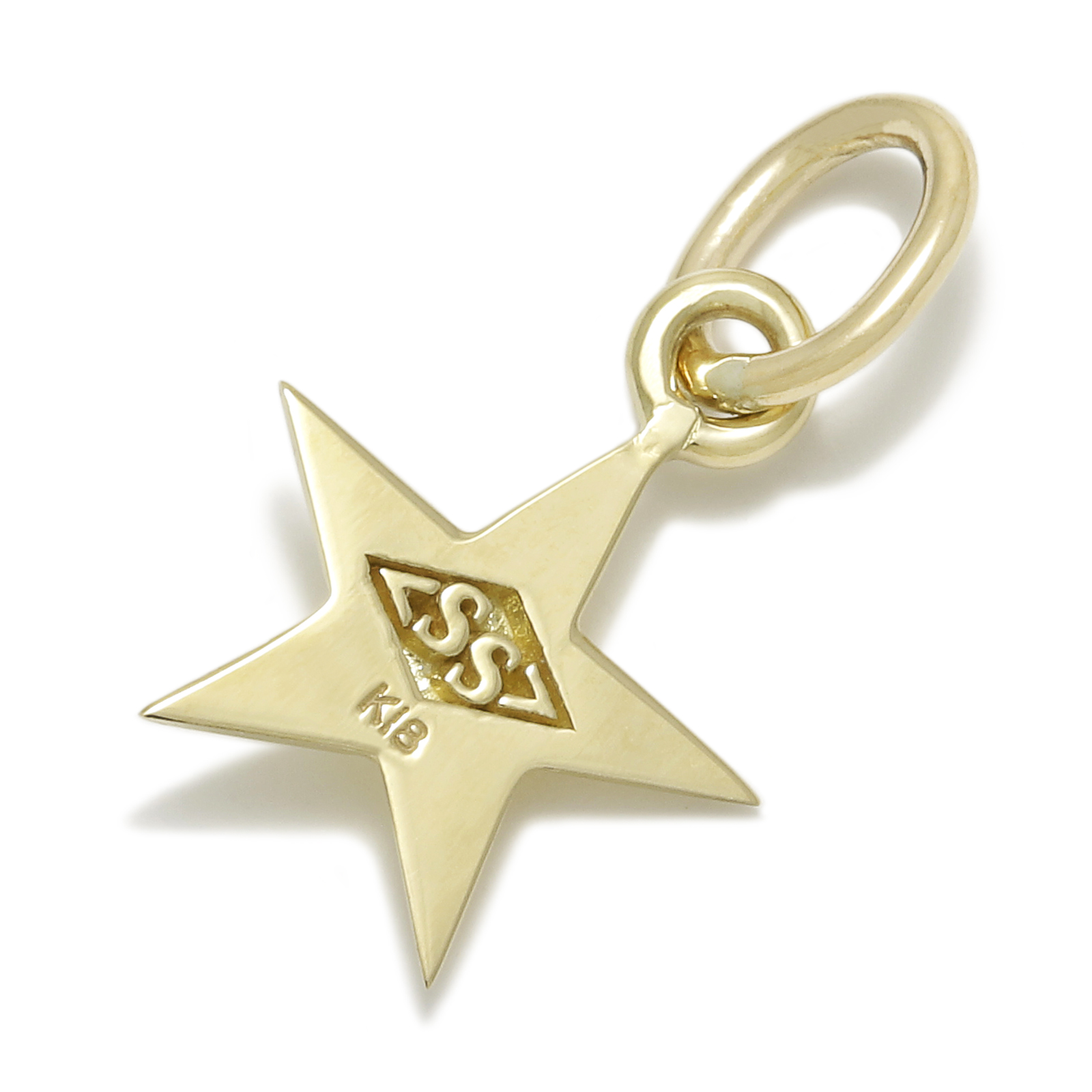 Small Star Charm - K18Yellow Gold