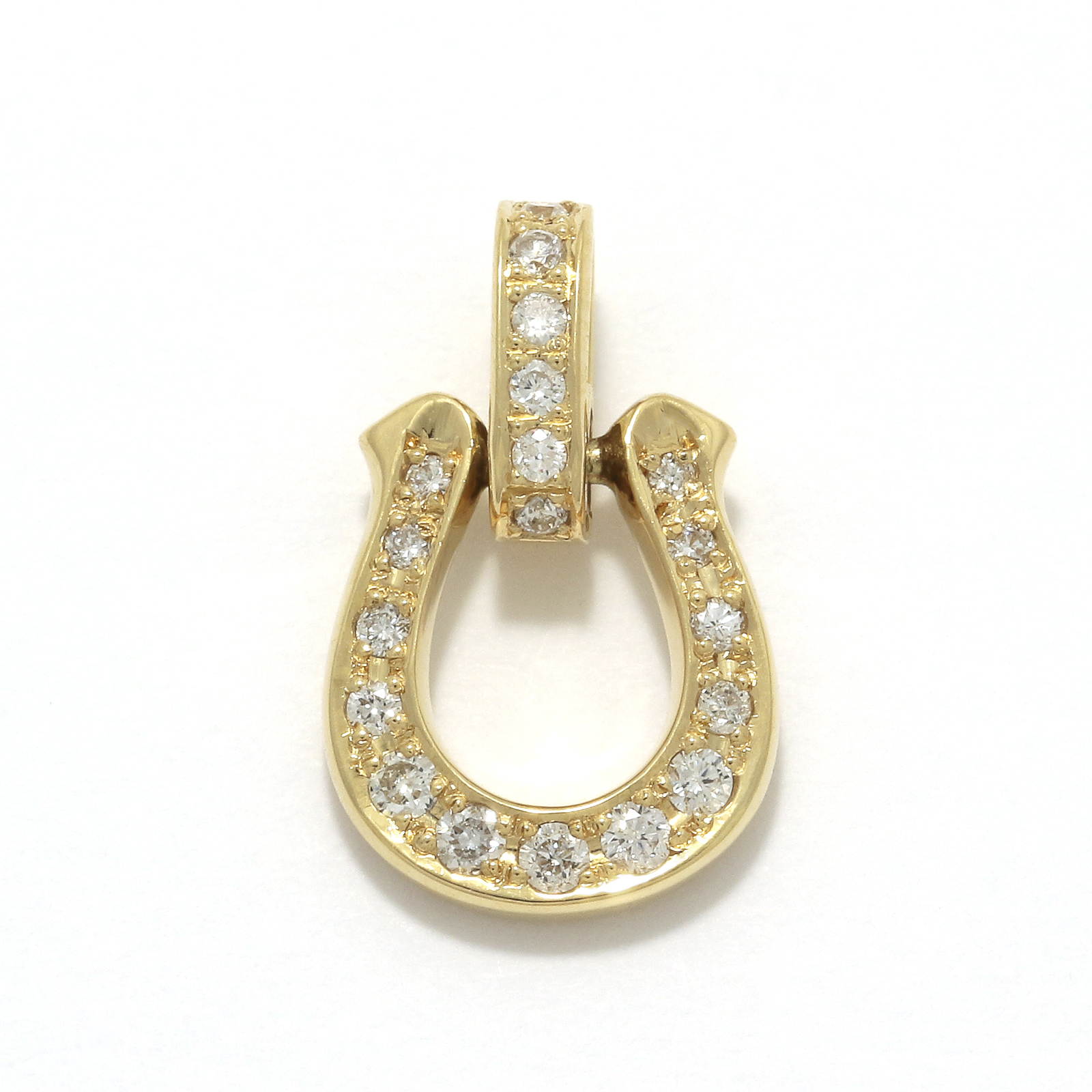 Horseshoe Amulet - K18Yellow Gold w/Diamond