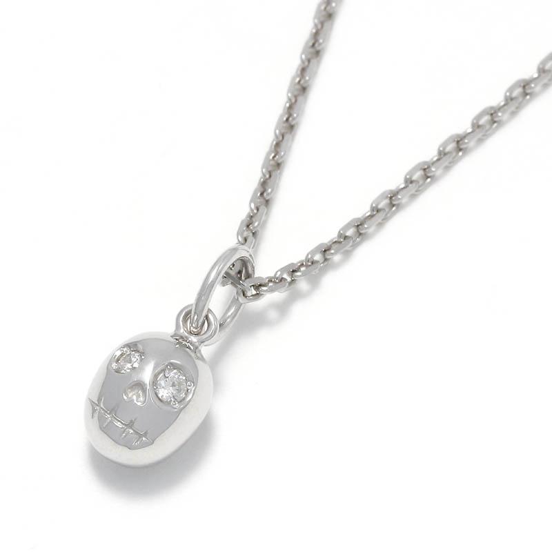 Sweet Skull Charm - Silver w/CZ