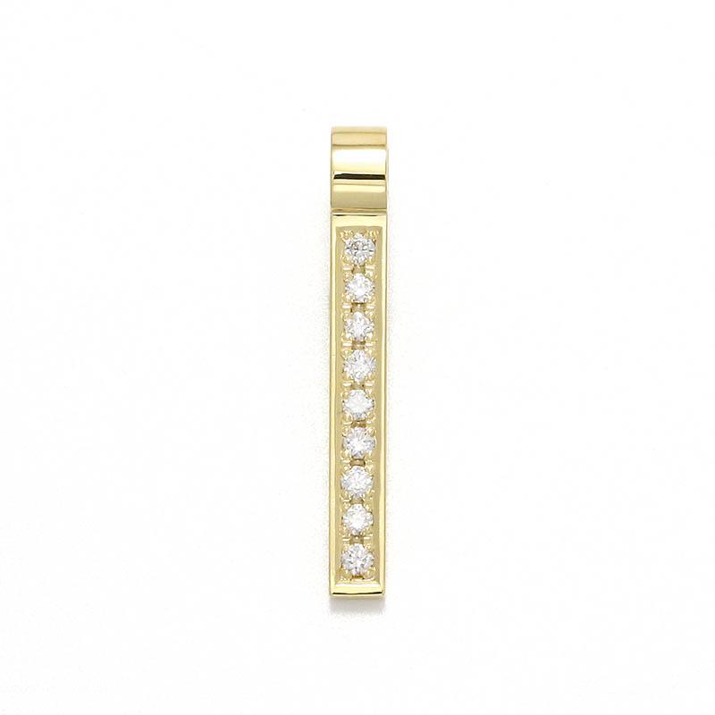 Rod Pendant - K18Yellow Gold w/Diamond