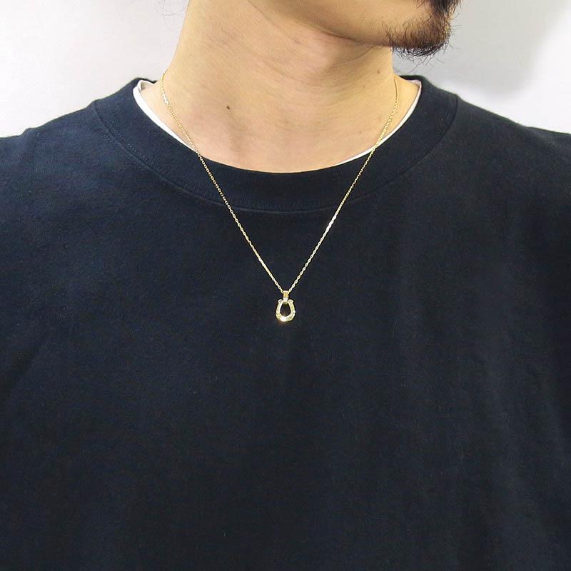 Horseshoe Amulet - Laurel - K18Yellow Gold