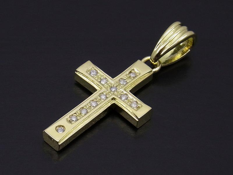 Sympathy of soul gravity cross pendant gravity cross pendant k18yellow gold wdiamond mozeypictures Gallery