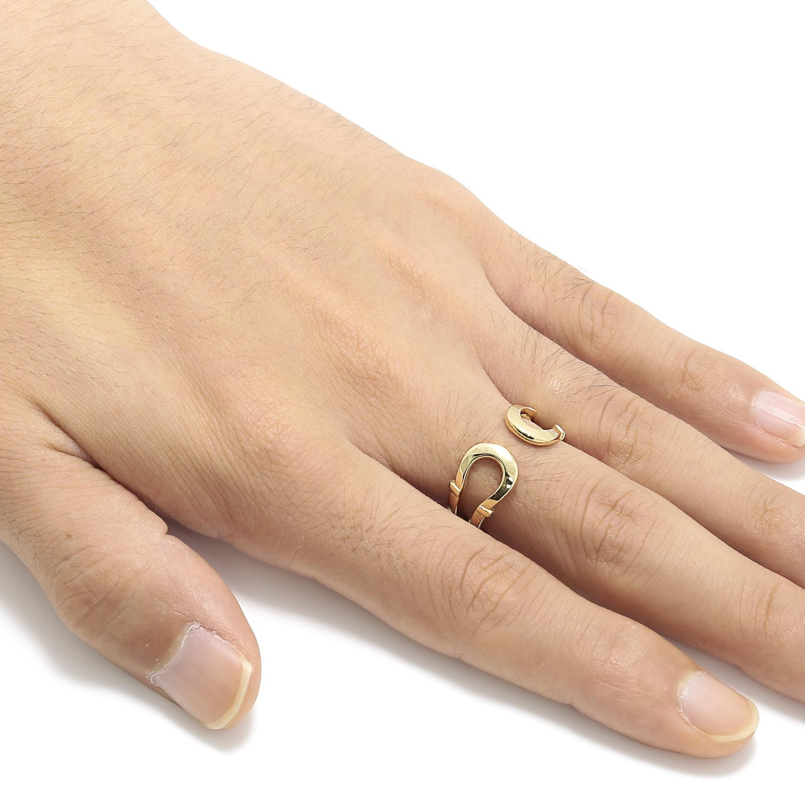 Double Horseshoe Ring - K18Yellow Gold