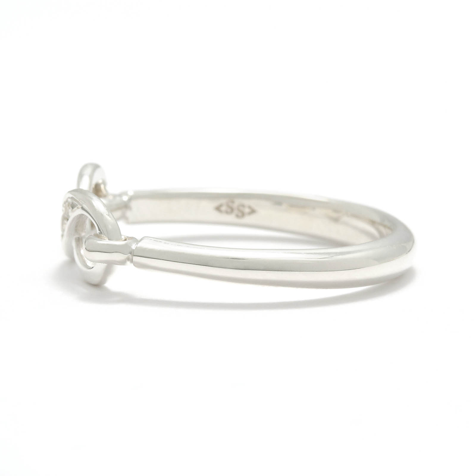 Infinity Band Ring - Silver w/CZ