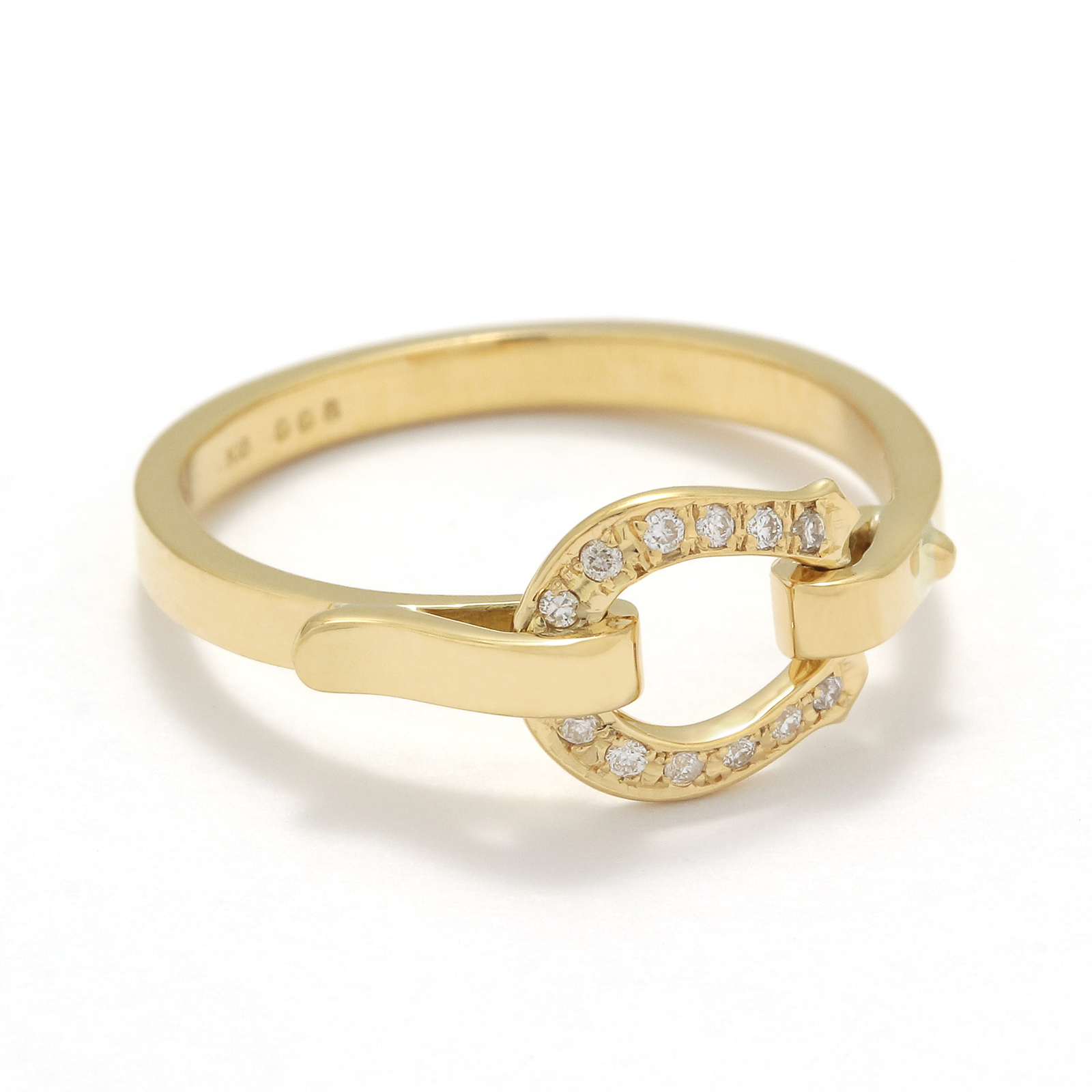 Horseshoe Band Ring Small - K18Yellow Gold w/Diamond