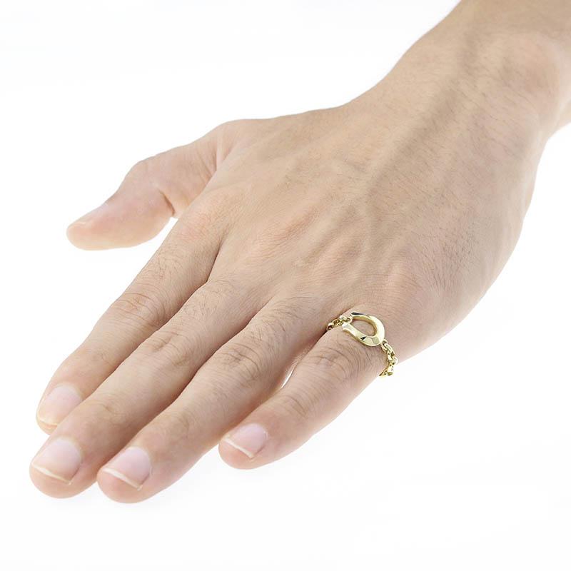 Horseshoe Chain Ring - K18Yellow Gold