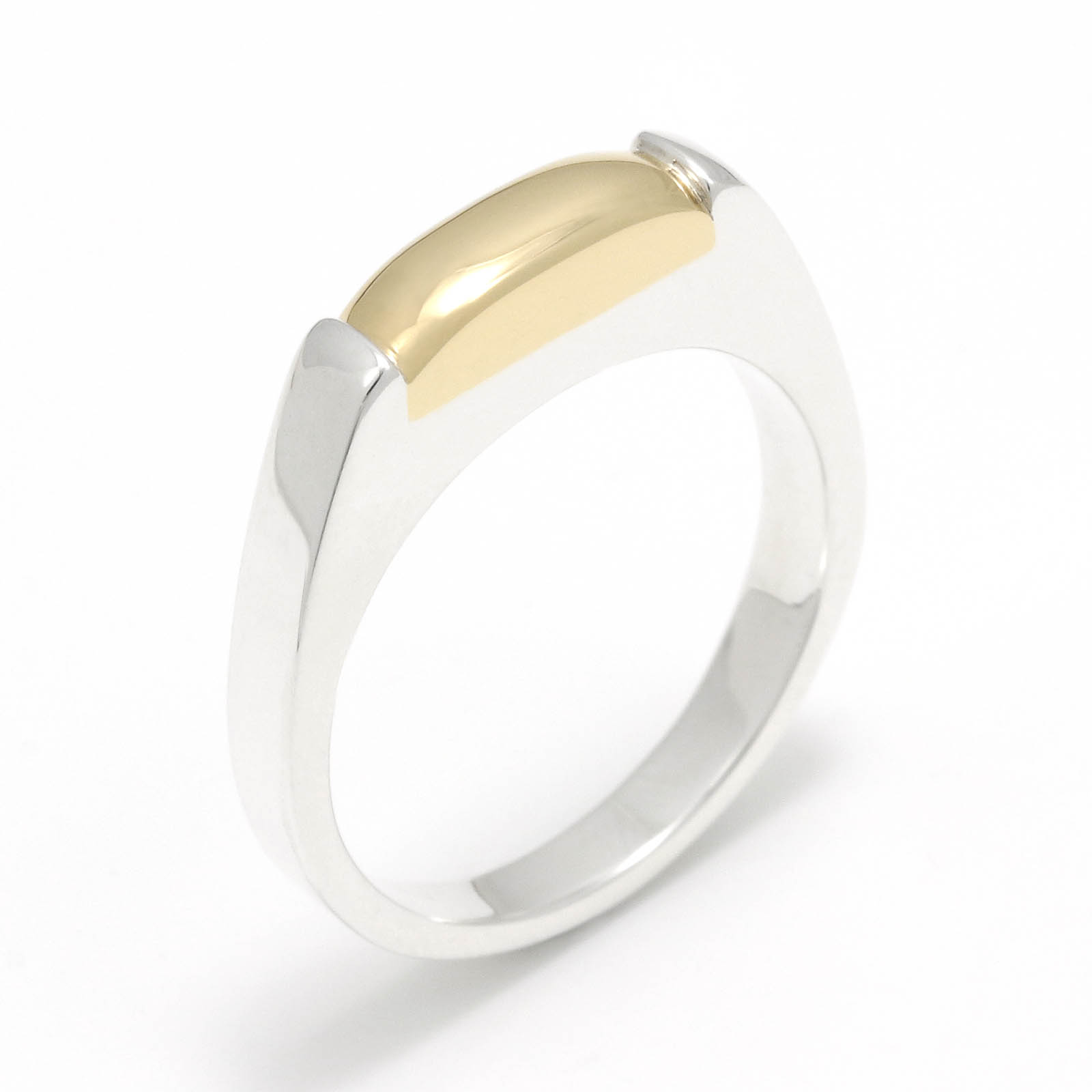 Slice Ring - Silver w/K18Yellow Gold