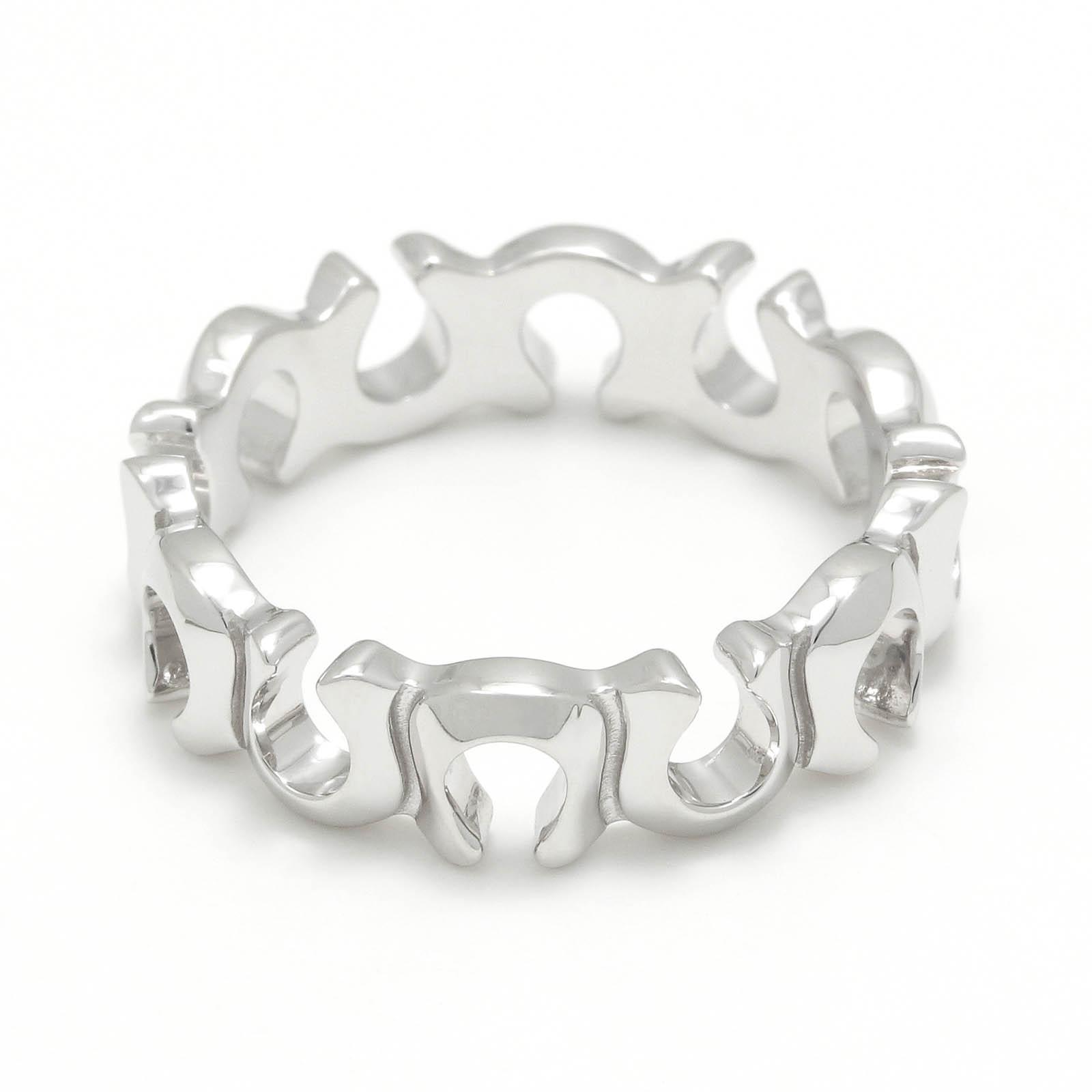 Horseshoe Round Ring - Silver