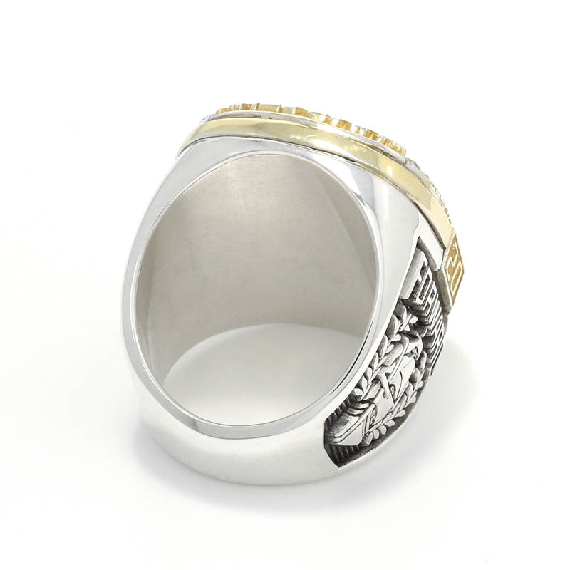 15th Anniversary Champion Ring - Silver×Gold Coating w/CZ