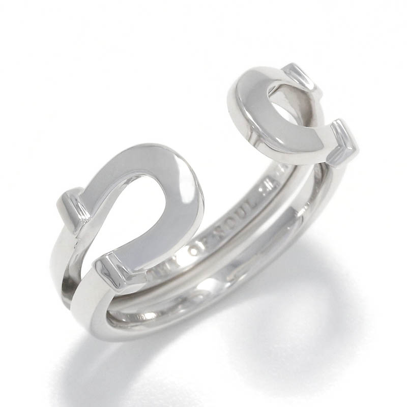 Double Horseshoe Ring Small - Silver