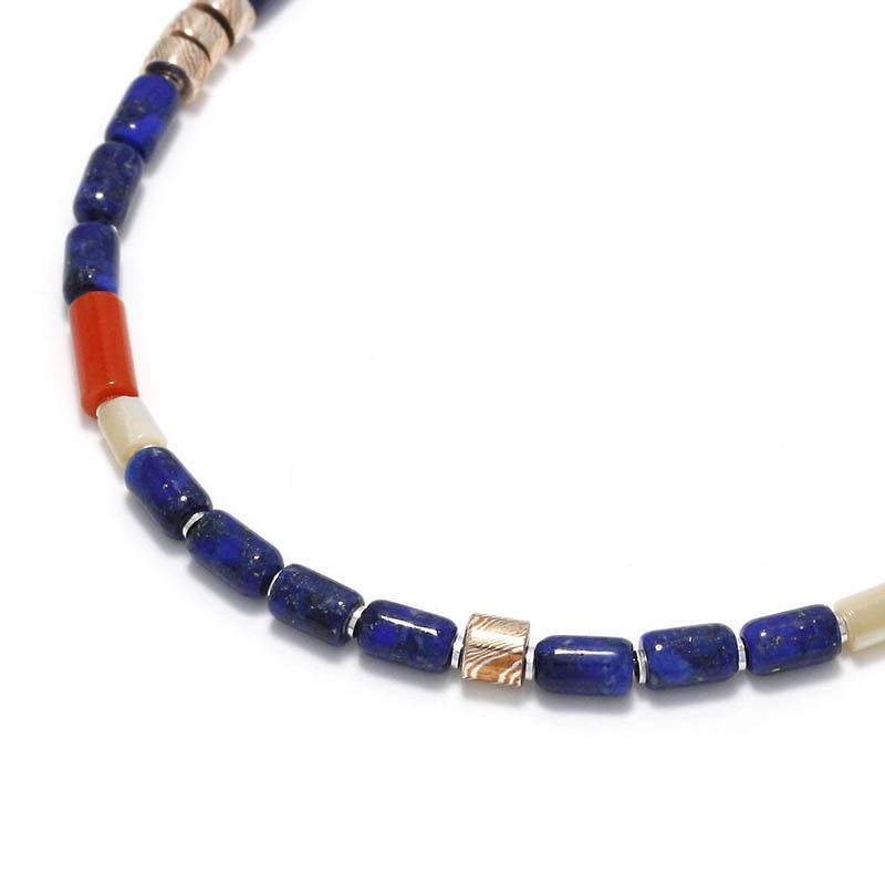 Tube Beads Anklet / Lapislazuli