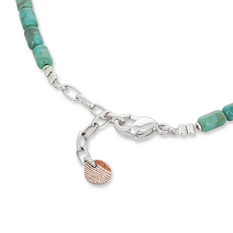 Tube Beads Anklet / Turquoise