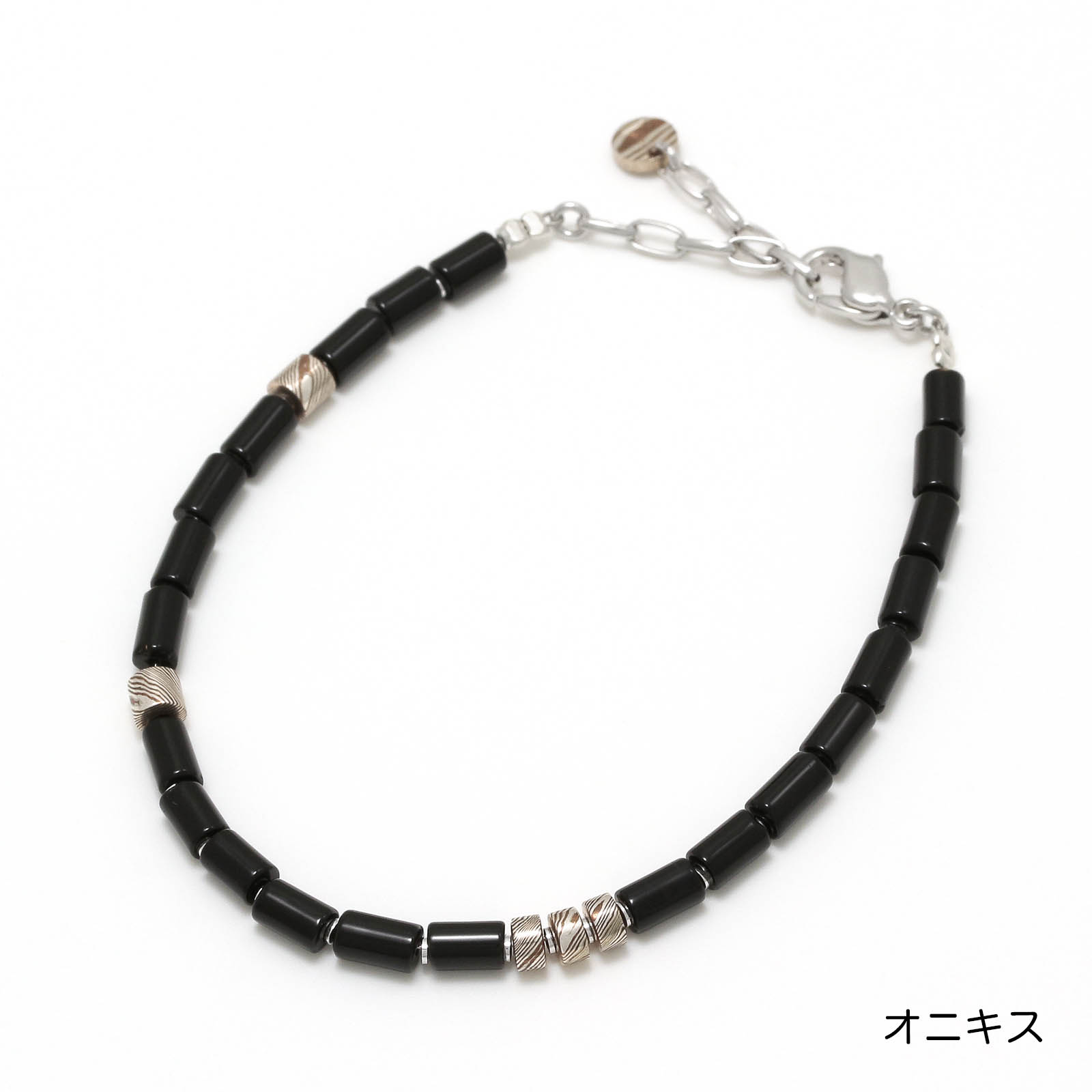 Tube Beads Bracelet - Onyx