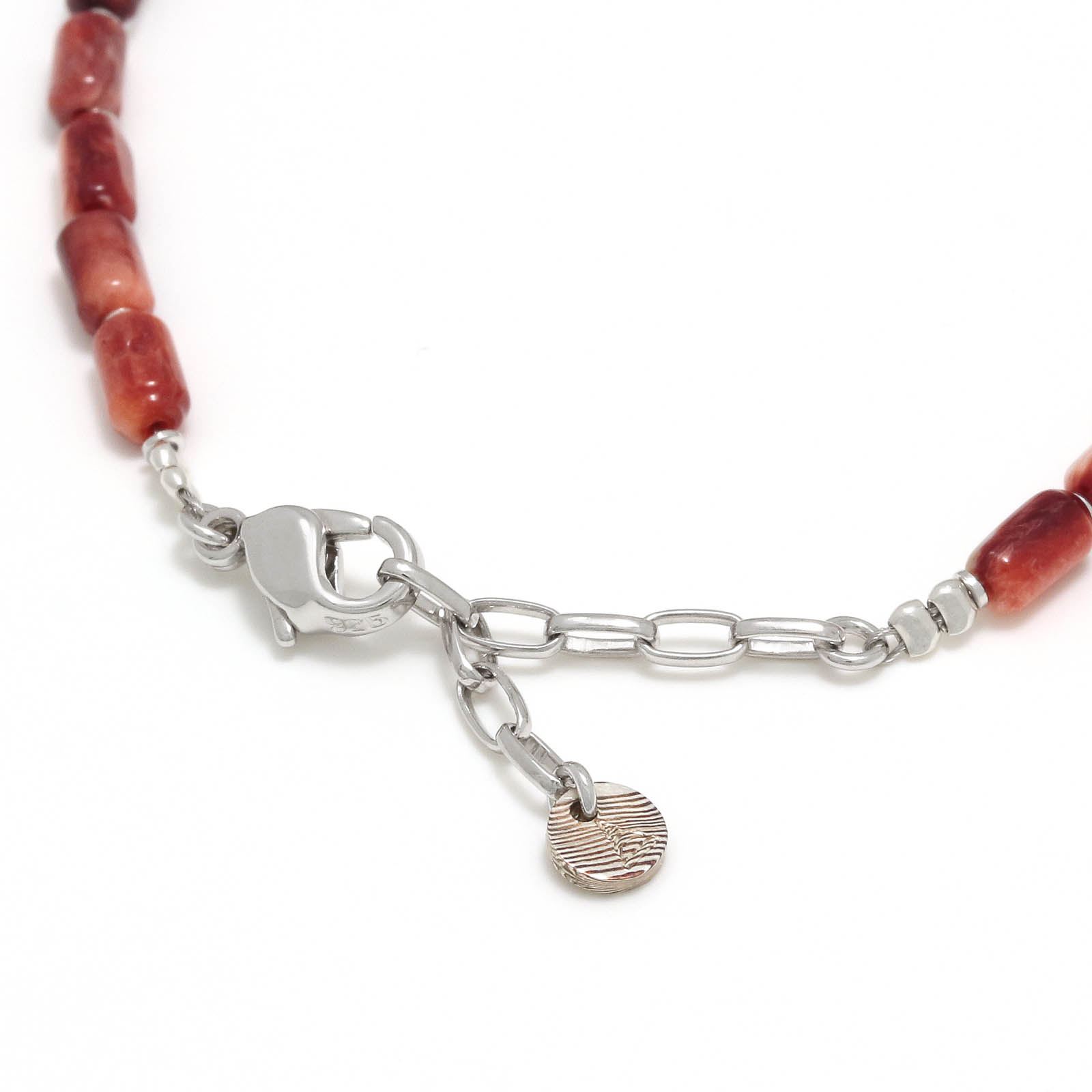 Tube Beads Bracelet - Spiny oyster shell