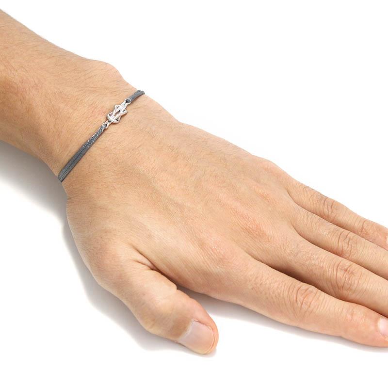 Eternal Knot Cord Bracelet / MOKUME×Silver