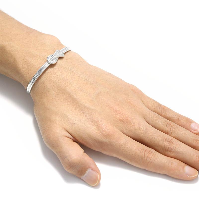 Eternal Knot Bangle Silver