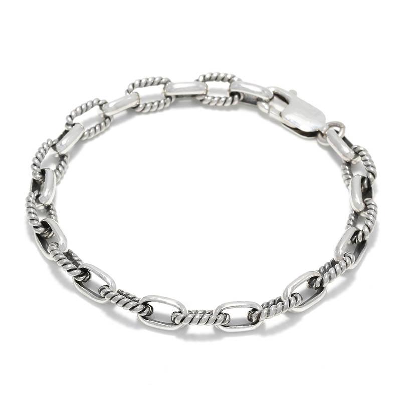 Twist Silver Combination Chain Bracelet