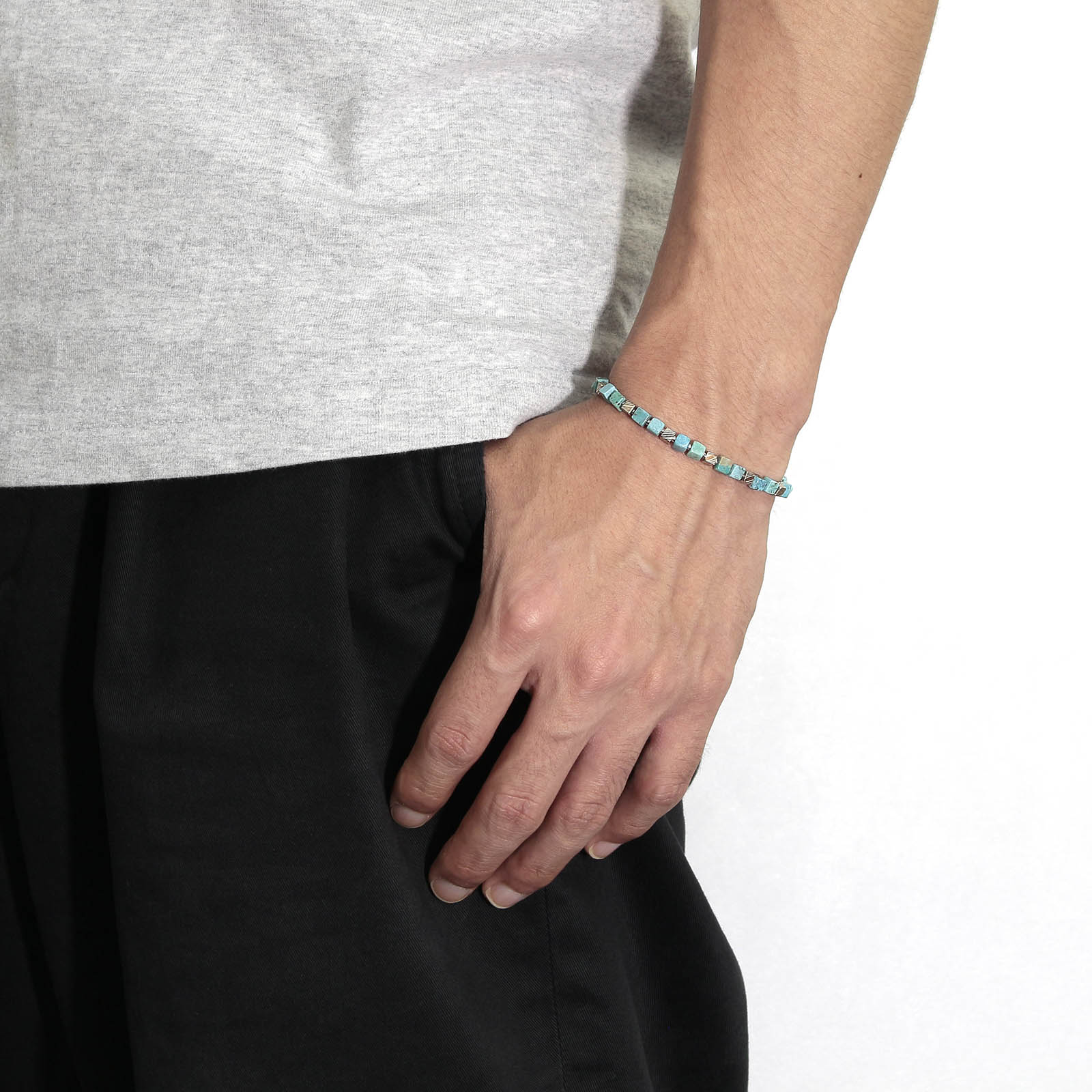 MOKUME Cube Beads Bracelet - Turquoise 2nd.