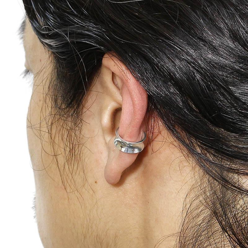 Silver Curvature Ear Cuff