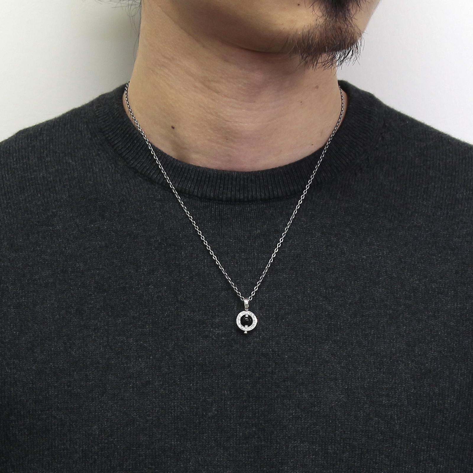 Eternal Carving Bramanda Necklace SV/Onyx