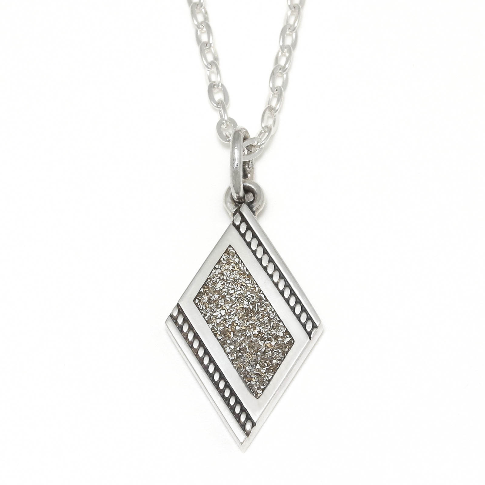 S.G Filled Dia Shape Necklace